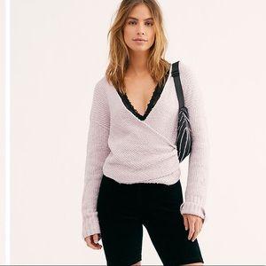 NWT- FP sensual Wrap Sweater